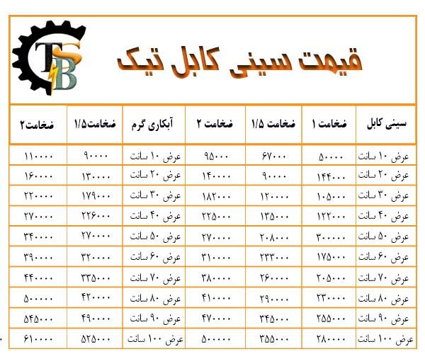 لیست قیمت سینی کابل گالوانیزه